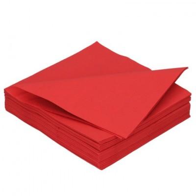 Ubrousky 2 vrstvé červené