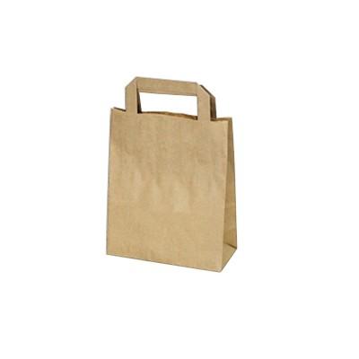 Taška papírová S hnědá 18x8x22