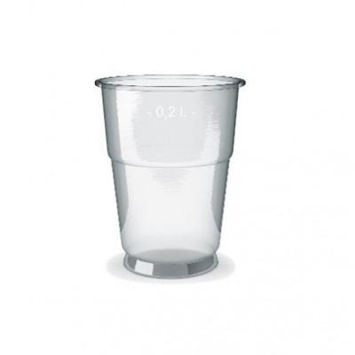 Kelímek PET 0,2L (pevný)