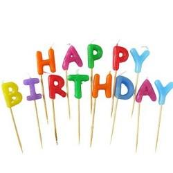 Narozeninové svíčky Happy birthday