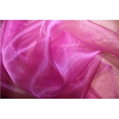 Organza růžovo fialová