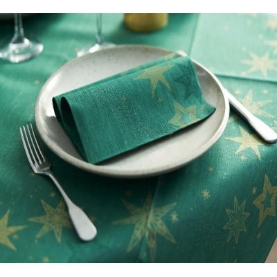 Ubrousky vánoční PEVNÉ DUNI  Star green