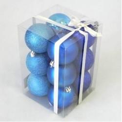 Vánoční koule 6cm tmavě modré