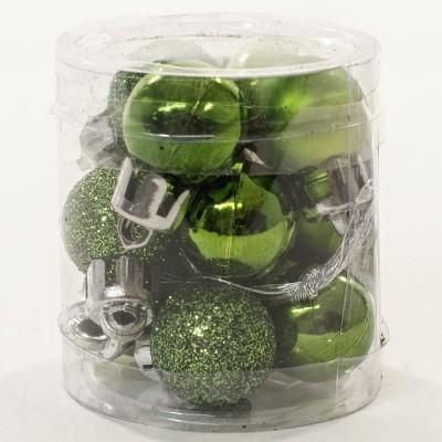 Baňky plastové světle zelené 2 cm