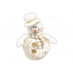 Sněhulák zlatý s šálou