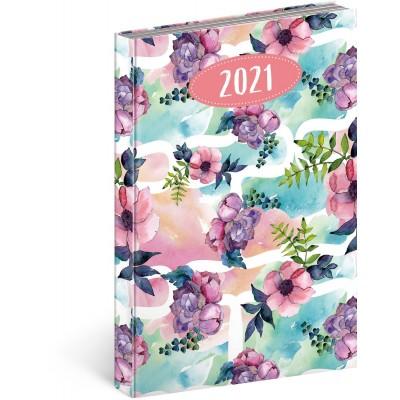 Diář 2021 denní Cambio Fun květiny