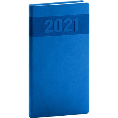 Diář 2021 kapesní Aprint modrý
