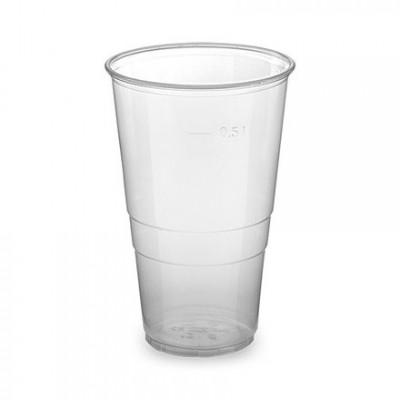 Kelímek transparentní 0,5 l, 50 ks
