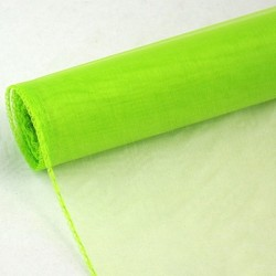 Organza neonkově zelená